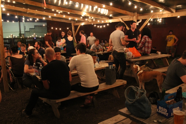 Lawrenceville outdoor party